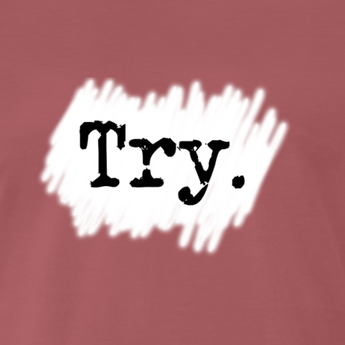 Try - Herre premium T-shirt