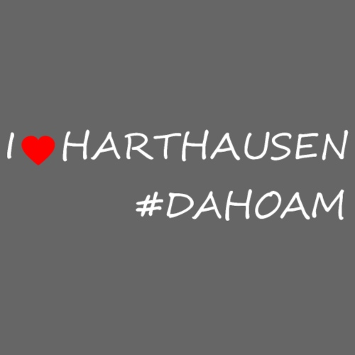 I ❤️ HARTHAUSEN #DAHOAM - Männer Premium T-Shirt