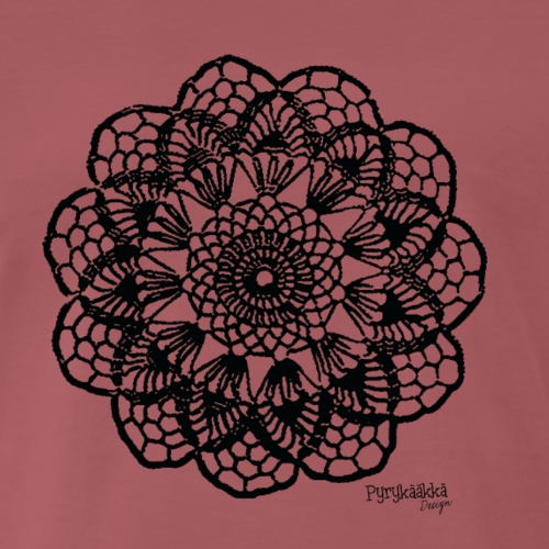 Grannys flower, musta - Miesten premium t-paita