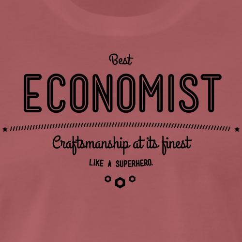 Bester Ökonom - wie ein Superheld - Männer Premium T-Shirt