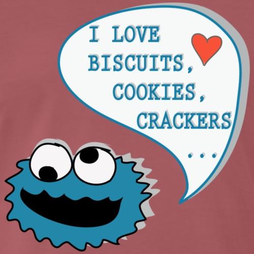 I Love Biscuits - Männer Premium T-Shirt