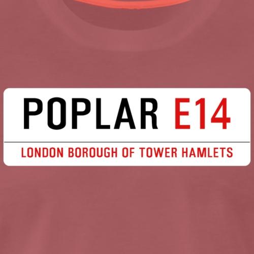 Poplar Street Sign - Men's Premium T-Shirt