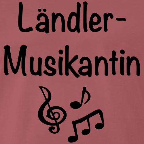 Ländlermusikantin - Männer Premium T-Shirt