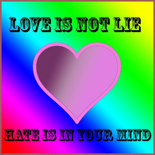 love is not lie - Men's Premium T-Shirt