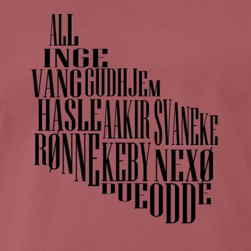 Bornholm tekst - Herre premium T-shirt