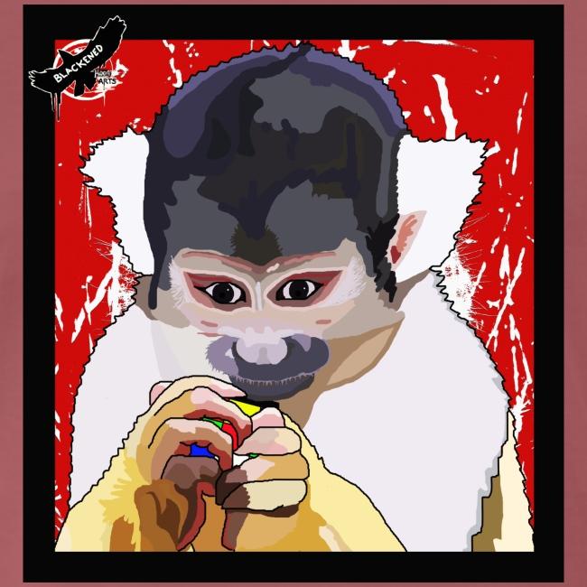 'Clever Monkey 2' by BlackenedMoonArts, w. logo
