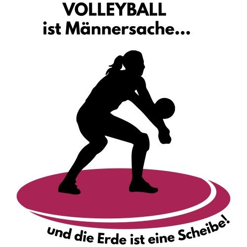 Volleyball Männersache, Erde ist eine Scheibe - Männer Premium T-Shirt