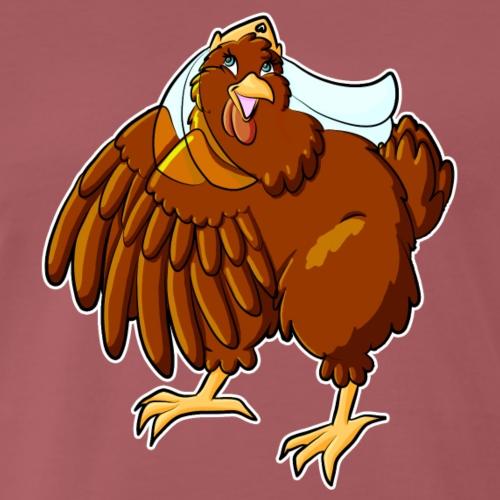 Verrücktes Huhn - Männer Premium T-Shirt