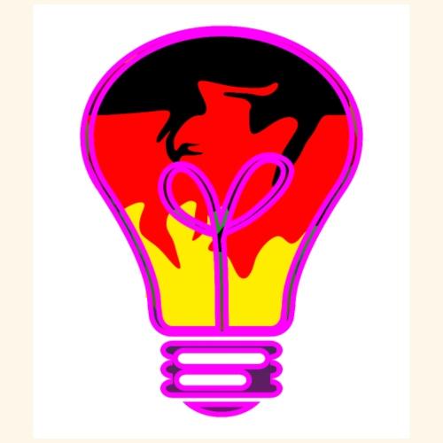 Light bulb with German flag - Maglietta Premium da uomo