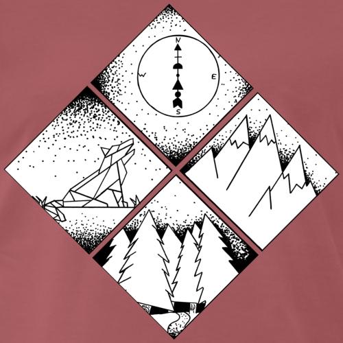 cadre nature - T-shirt Premium Homme
