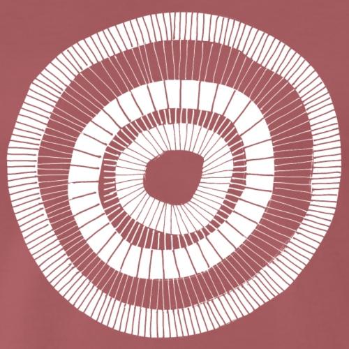 Painted circle design white 001 - Mannen Premium T-shirt