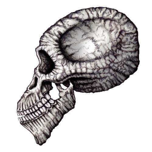 Schädel Zeichnung Kopf Knochen - Männer Premium T-Shirt