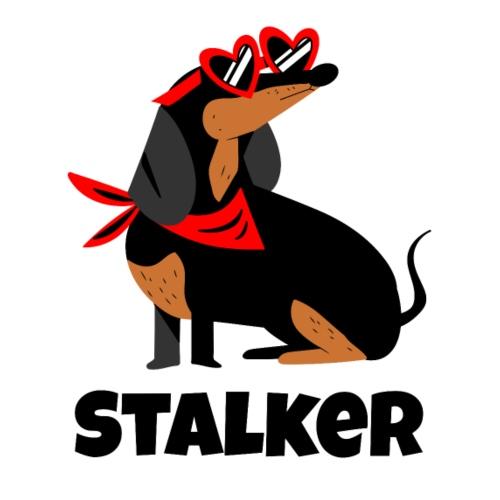 Dachshund Stalker - Männer Premium T-Shirt