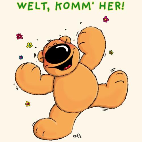 chris bears Welt lass Dich umarmen - Männer Premium T-Shirt