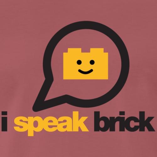 I Speak Brick - Maglietta Premium da uomo