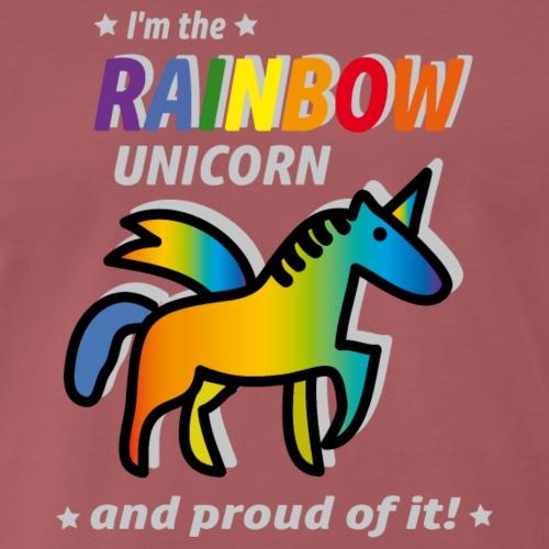 Rainbow Unicorn Proud - Männer Premium T-Shirt