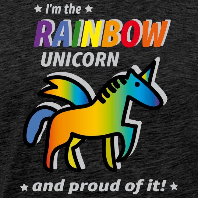 Rainbow Unicorn Proud
