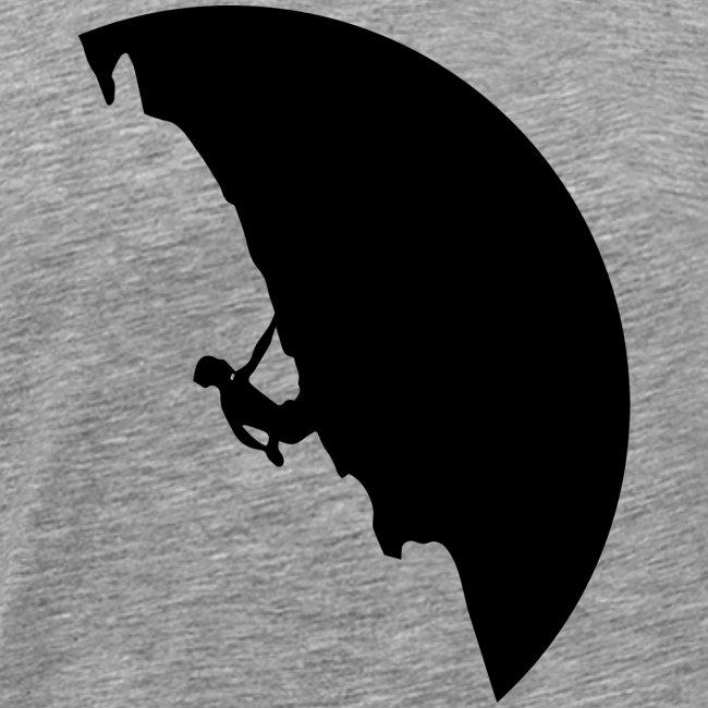 Kletterer in schwarz