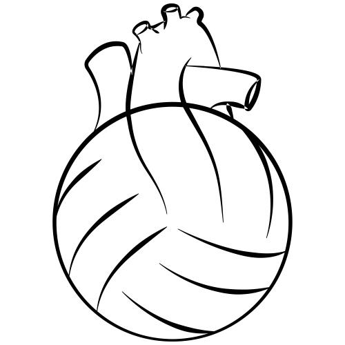 Volleyball Herz Anatomie - Männer Premium T-Shirt