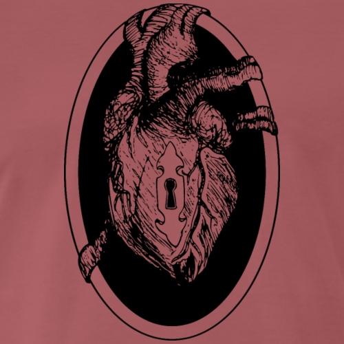 A Heart Under Lock and Hey - Men's Premium T-Shirt
