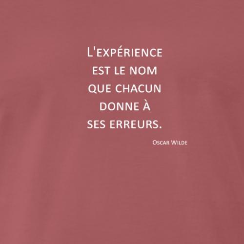 L'expérience - Oscar Wilde - T-shirt Premium Homme