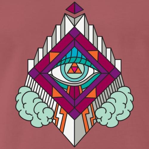 Geometria Geometric GeomTRIBE tattoo KoralDesign - Maglietta Premium da uomo