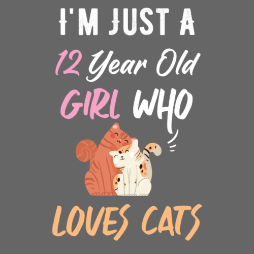 I'm just a 12 year old girl who loves cats - T-shirt Premium Homme