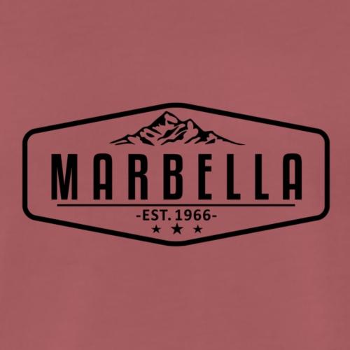 Marbella Mountain Logo with Border - Men's Premium T-Shirt