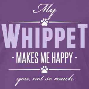 My Whippet makes me happy - Männer Premium T-Shirt