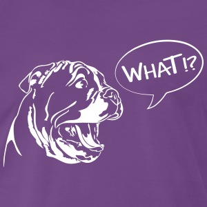 WHAT - English Bulldog Puppy - Männer Premium T-Shirt