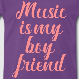 Music Is My Boyfriend - Herre premium T-shirt