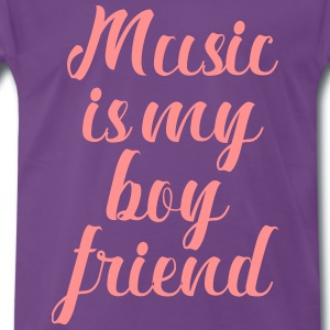 Music Is My Boyfriend - Premium T-skjorte for menn