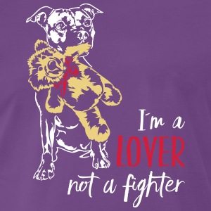 LOVER NOT A FIGHTER - Staffordshire - Men's Premium T-Shirt