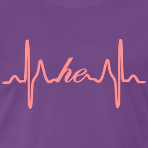 He heartbeat ECG - Men's Premium T-Shirt