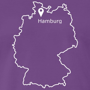 Place to be: Hamburg - Mannen Premium T-shirt