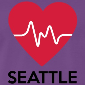 coeur Seattle - T-shirt Premium Homme