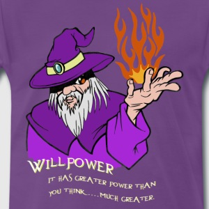 Willenskraft Wizard Lila / Rot / orange Flamme - Männer Premium T-Shirt