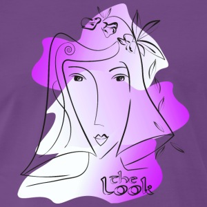 Face 10 violet (The Look series) - Men's Premium T-Shirt