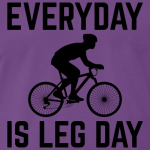 Everyday er Leg Day! - Herre premium T-shirt