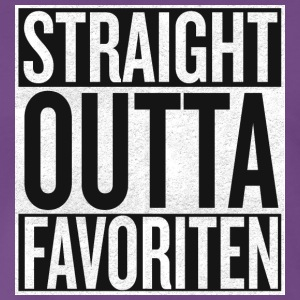 Straight Outta favoriter - Premium-T-shirt herr