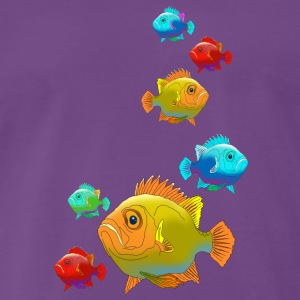 Fish perch Aquarium Ocean sea fishing water - Men's Premium T-Shirt