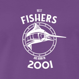 Present for fishers born in 2001 - Men's Premium T-Shirt