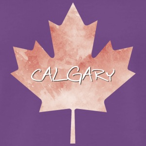 Maple Leaf Calgary - Premium-T-shirt herr