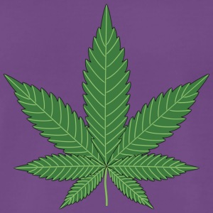 cannabis leaf - Premium T-skjorte for menn