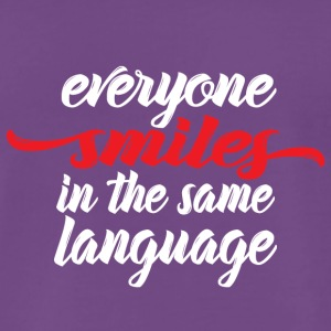 Everyone smiles - Männer Premium T-Shirt