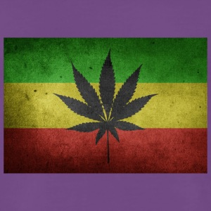 Jamaica Flag and Marijuana - Men's Premium T-Shirt