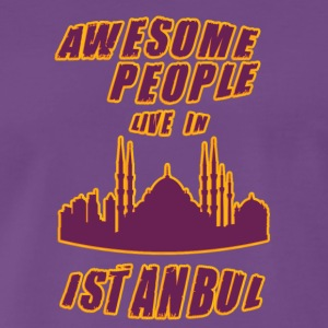 Istanbul Awesome people live in - Men's Premium T-Shirt
