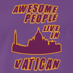 VATICAN Awesome people live in - Men's Premium T-Shirt