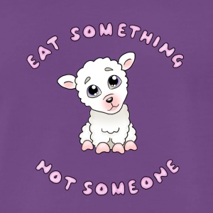Eat something - Rosa text - Premium-T-shirt herr