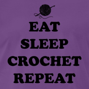 eat sleep crochet - Men's Premium T-Shirt